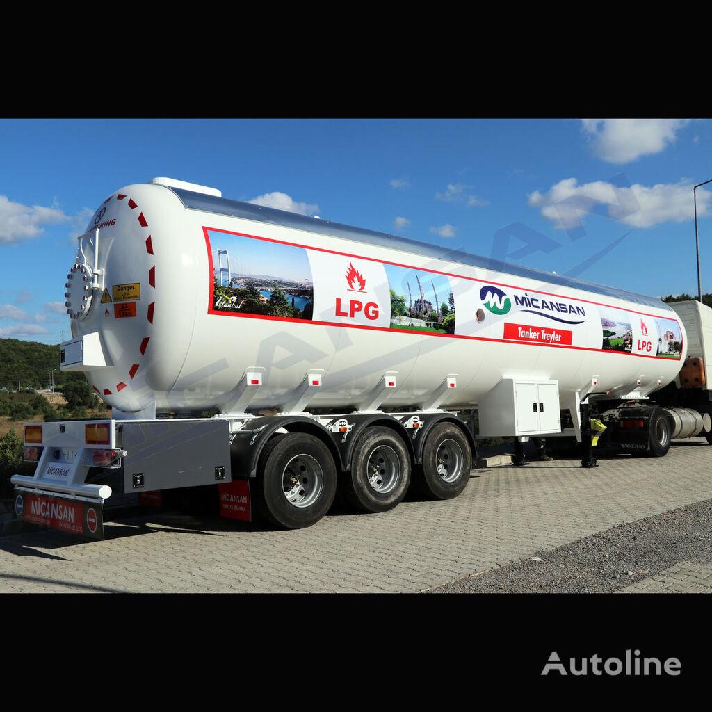 новая газовая цистерна MICANSAN BIG DISCOUNT 2021 70 m3 AFRICA TYPE LPG TRAILER