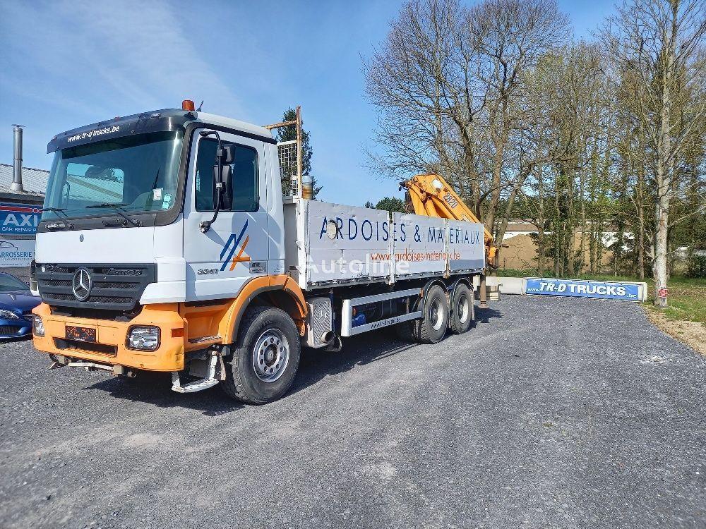 бортовой грузовик MERCEDES-BENZ Actros 3341 - FULL STEEL -crane HMF2820 with rotator