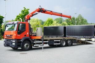 эвакуатор IVECO Stralis 360, EEV, 6x2, 7.8m tow truck, lift axle , CRANE HIAB ma