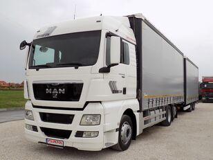 грузовик штора MAN TGX 26.400 - TANDEM JUMBO + прицеп штора