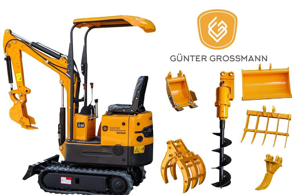 новый гусеничный экскаватор Günter Grossmann GG800 Minikoparka + Akcesoria - Mini koparka