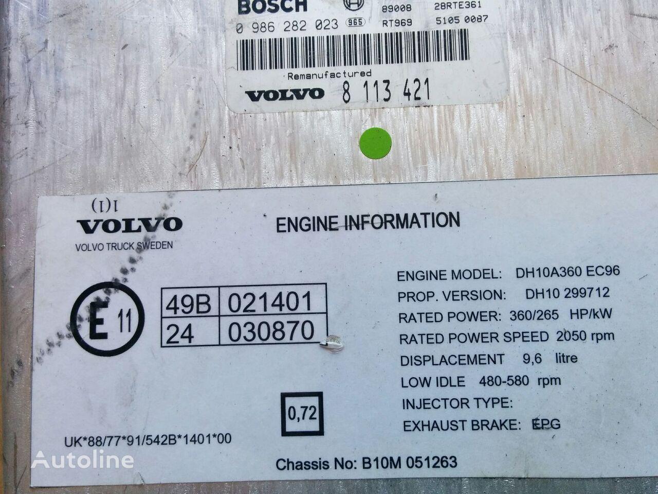 блок управления VOLVO Bosh 0986282023 . /1209/ (VDO 412.413\1\5) для автобуса VOLVO B10